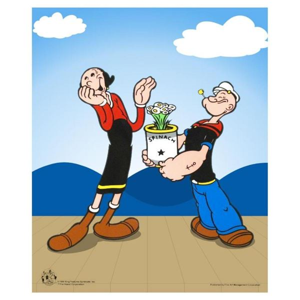 """""""Popeye Spinach"""" Limited Edition Popeye Sericel with Official King Features Synd"""
