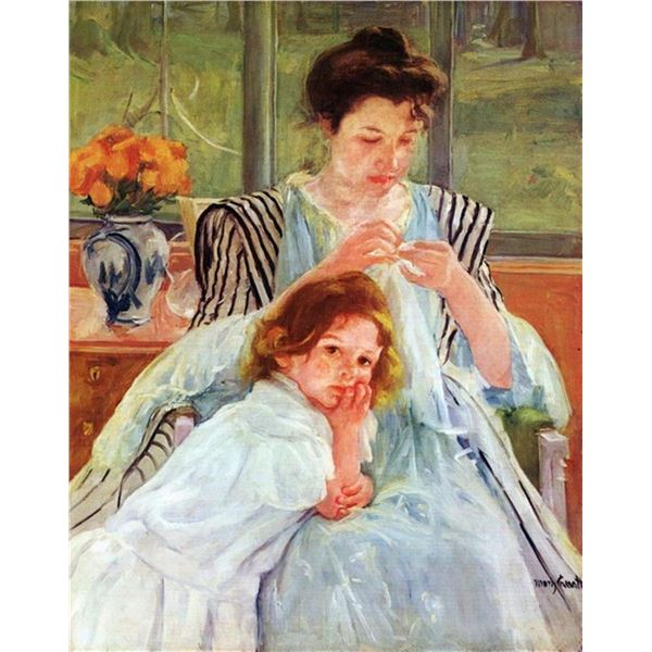 Mary Cassatt - Young Mother Sewing