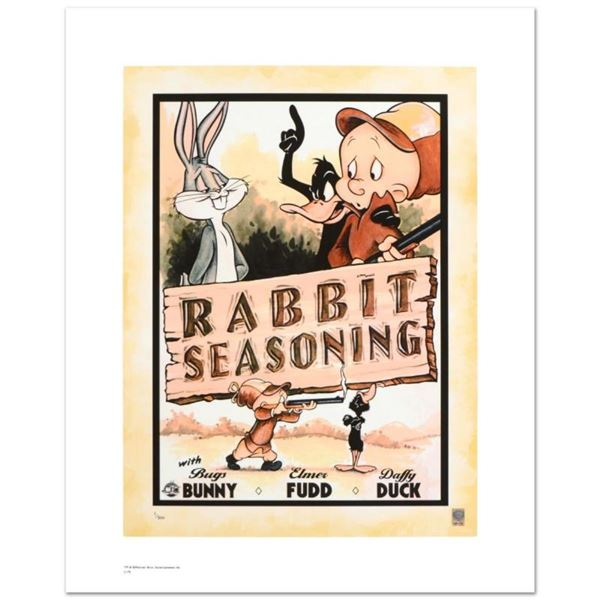 """""""Rabbit Seasoning"""" Limited Edition Giclee from Warner Bros., Numbered with Holog"""