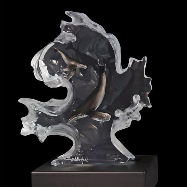"""Kitty Cantrell, """"Mother Nature"""" Limited Edition Mixed Media Lucite Sculpture wit"""