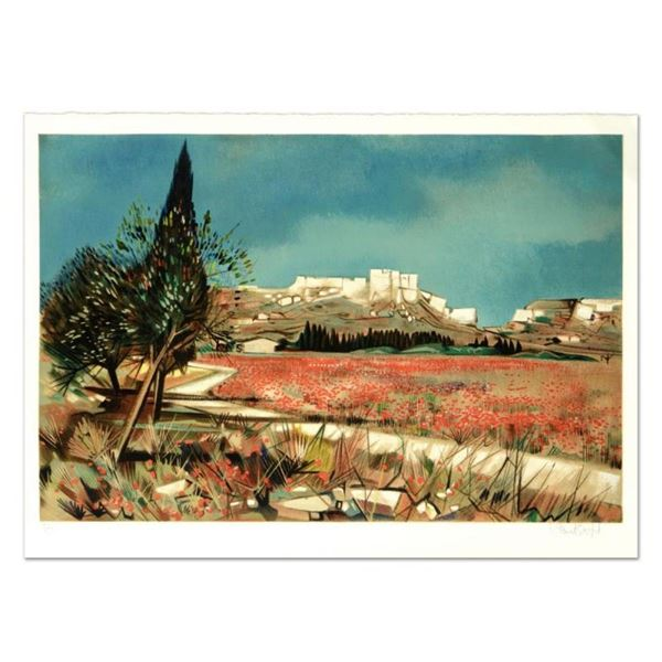 """Robert Vernet Bonfort, """"Baux"""" Limited Edition Lithograph, Numbered and Hand Sign"""
