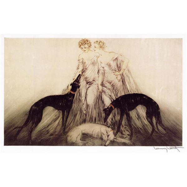 Louis Icart - Femme & Chien