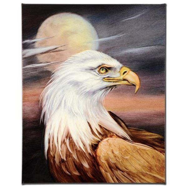 """Eagle Moon"" Limited Edition Giclee on Canvas by Martin Katon, Numbered and Hand"
