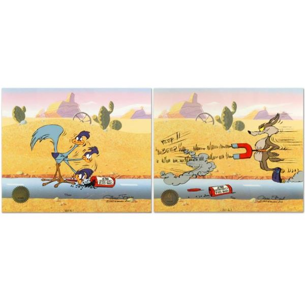 """Road Runner and Coyote: Acme Birdseed"" Limited Edition Animation Cel by Chuck J"