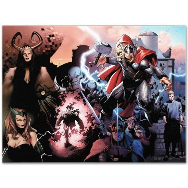 "Marvel Comics ""Thor #600"" Numbered Limited Edition Giclee on Canvas by Oliver Co"