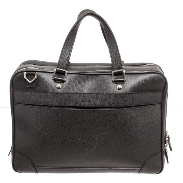 Louis Vuitton Gray Taiga Leather Briefcase