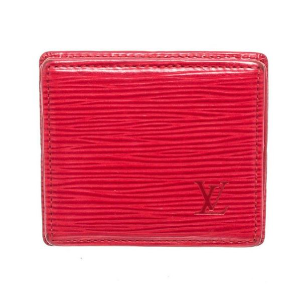 Louis Vuitton Red Epi Leather Boite Coin Case Wallet