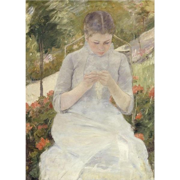 Cassatt - Girl in the Garden