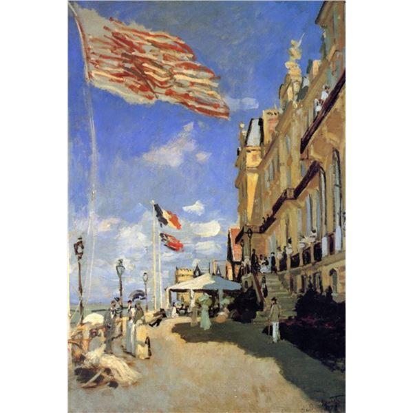 Claude Monet - Hotel de Roches Noires a Trouville