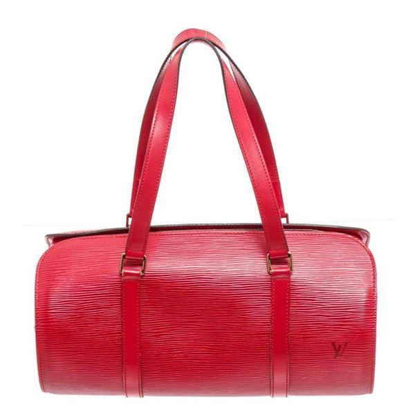 Louis Vuitton Red Epi Leather Soufflot Shoulder Bag