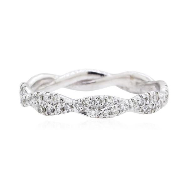 0.4 ctw Diamond Ring - 14KT White Gold