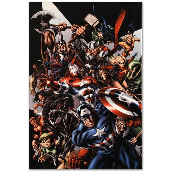 "Marvel Comics ""Avengers Assemble #1"" Numbered Limited Edition Giclee on Canvas b"