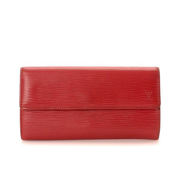 Louis Vuitton Red Monogram Carmine Sarah Wallet