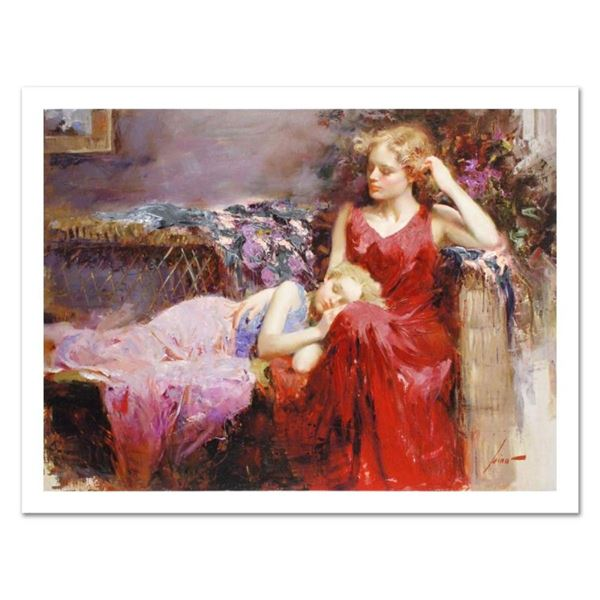 """Pino (1931-2010), """"A Mother's Love"""" Limited Edition on Canvas, Numbered and Hand"""