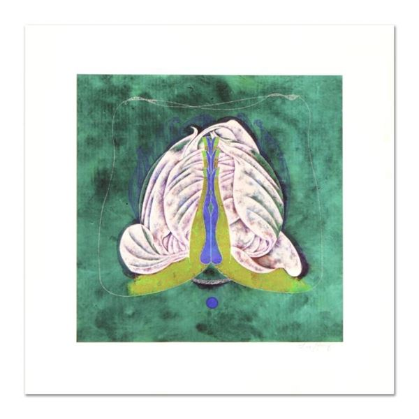 "Lu Hong ""Mudra Namskara, Prayer"" Hand Signed Limited Edition Giclee with Letter"
