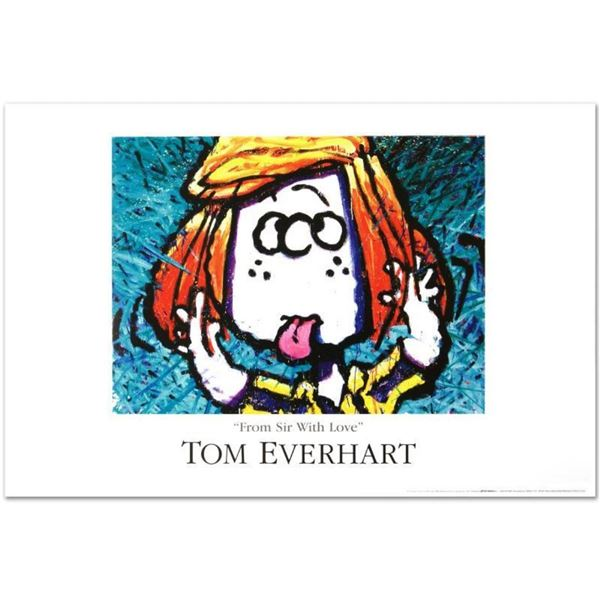 """""""From Sir With Love"""" Fine Art Poster by Renowned Charles Schulz Protege Tom Ever"""