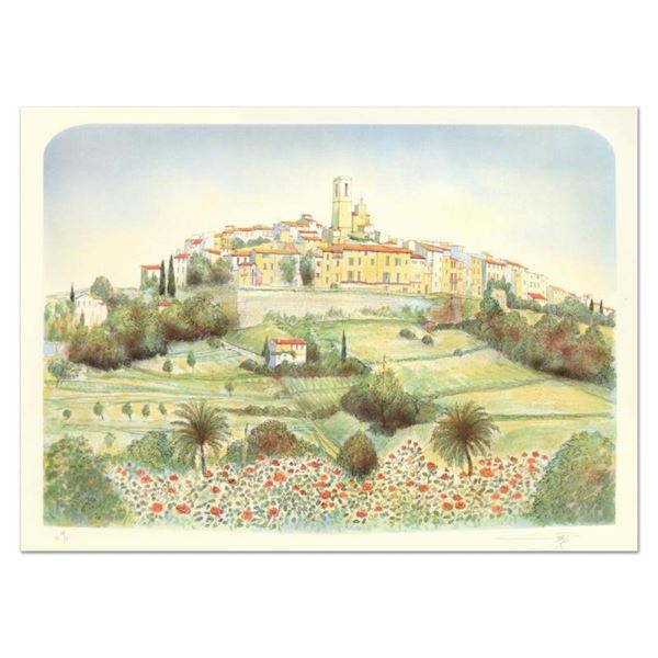 """Rolf Rafflewski, """"St. Paul De Vence """" Limited Edition Lithograph, Numbered and H"""