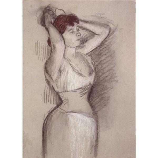 Edgar Degas - Woman Doing Hair