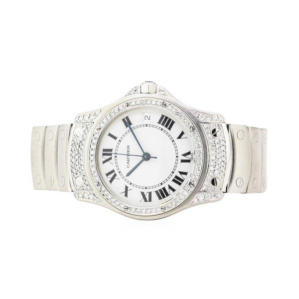 Cartier Santos Rhode Stainless Steel Wristwatch
