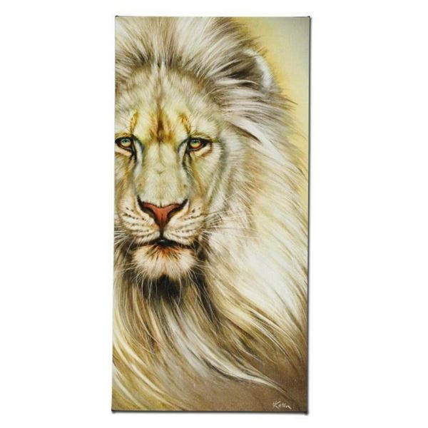 """White Lion"" Limited Edition Giclee on Canvas by Martin Katon, Numbered and Hand"