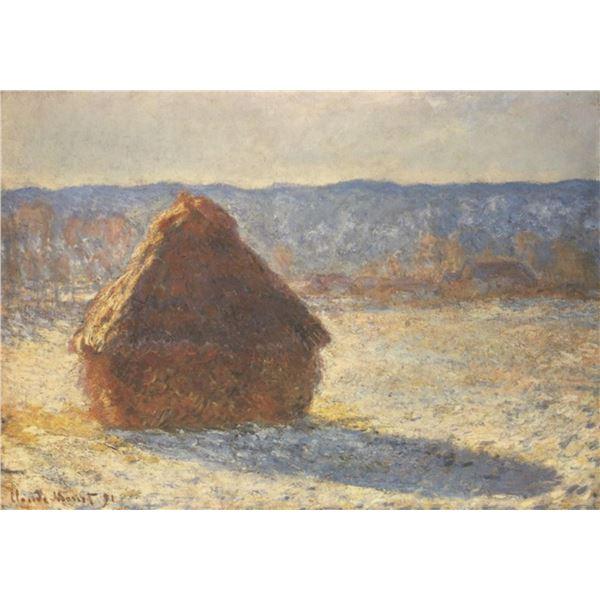 Claude Monet - Haystacks, Snow, Morning