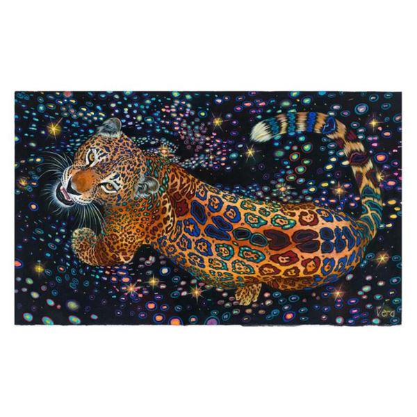 "Vera V. Goncharenko, ""Strong Tiger"" Hand Signed Limited Edition Giclee on Canvas"