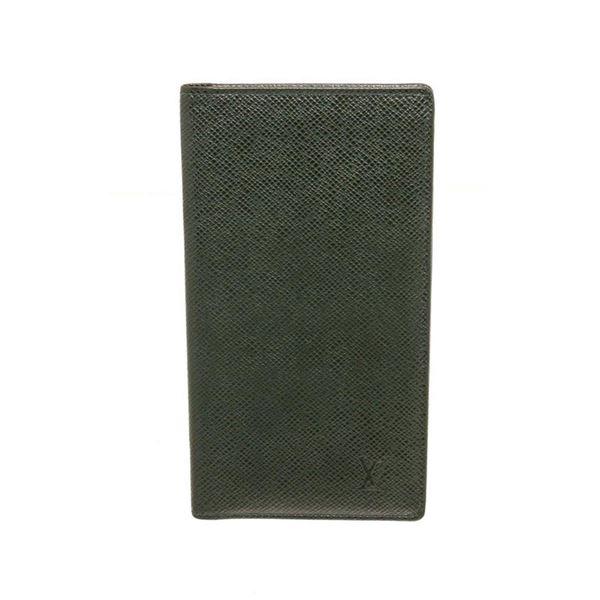 Louis Vuitton Green Taiga Leather Long Card Wallet