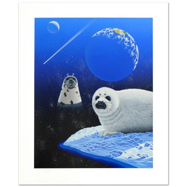 """""""Our Home Too IV (Seals)"""" Limited Edition Serigraph by William Schimmel, Numbere"""