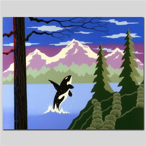 """""""Orca"""" Limited Edition Giclee on Canvas by Larissa Holt, Numbered and Signed. Th"""