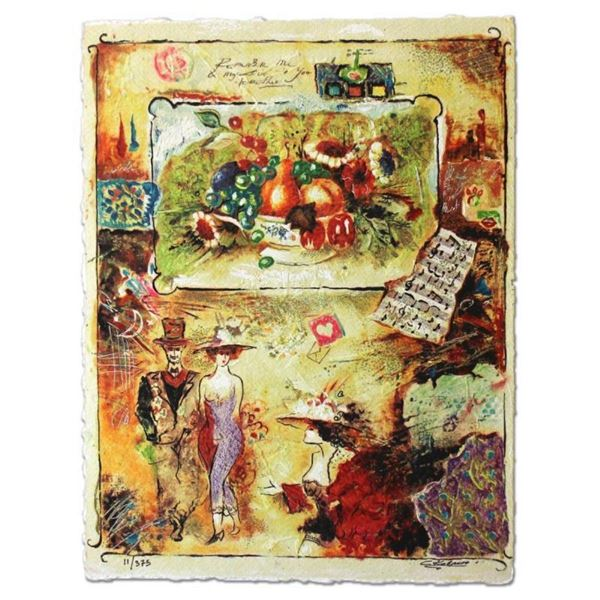 """Sergey Kovrigo, """"Pleasures"""" Hand Signed Limited Edition Serigraph with Letter of"""