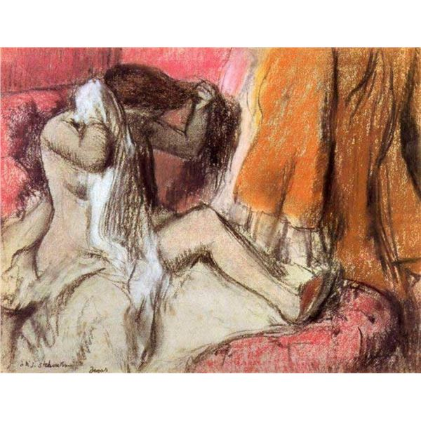 Edgar Degas - Seated Female Nude On A Chaise Lounge