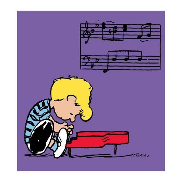 "Peanuts, ""Schroeder"" Hand Numbered Canvas (40""x44"") Limited Edition Fine Art Pri"