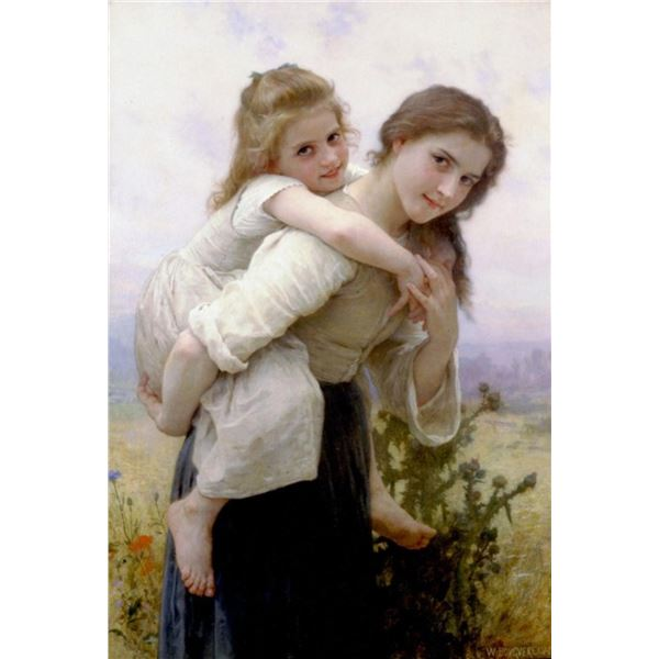 William Bouguereau - Not Too Much to Carry