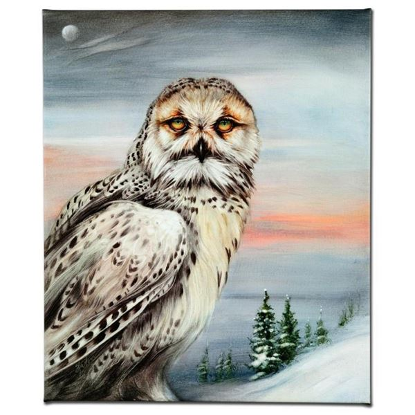 """Snow Owl in Alaska"" Limited Edition Giclee on Canvas by Martin Katon, Numbered"