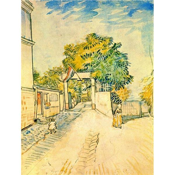 Van Gogh - Entrance To The Moulin De La Galette