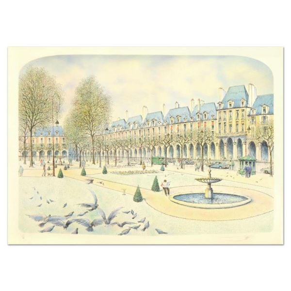"Rolf Rafflewski, ""Park"" Limited Edition Lithograph, Numbered and Hand Signed."