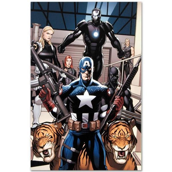 "Marvel Comics ""Ultimate New Ultimates #3"" Numbered Limited Edition Giclee on Can"