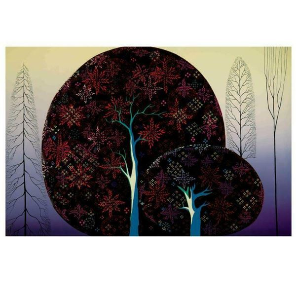 "Eyvind Earle (1916-2000), ""A Tree Poem"" Limited Edition Serigraph on Paper; Numb"