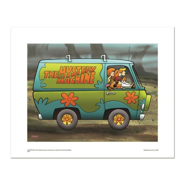 """Mystery Machine"" Numbered Limited Edition Giclee from Hanna-Barbera with Certif"