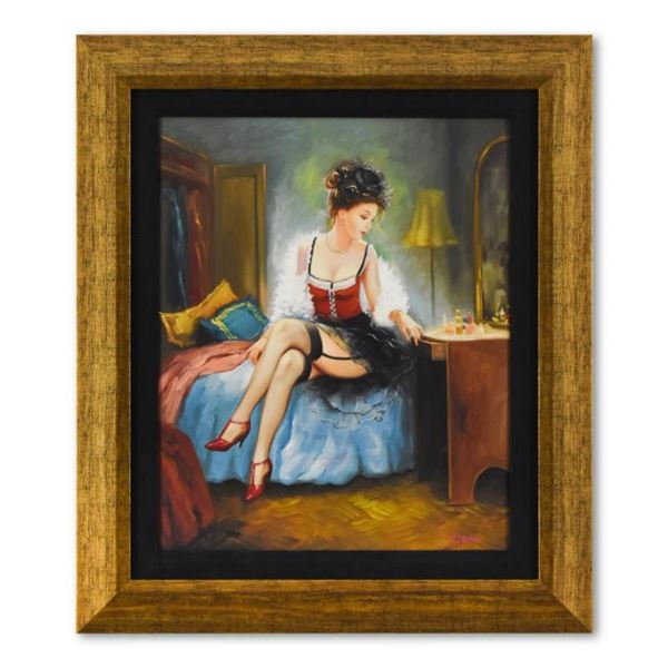 "Taras Sidan, ""Mademoiselle"" Framed Limited Edition on Canvas, Numbered and Hand"