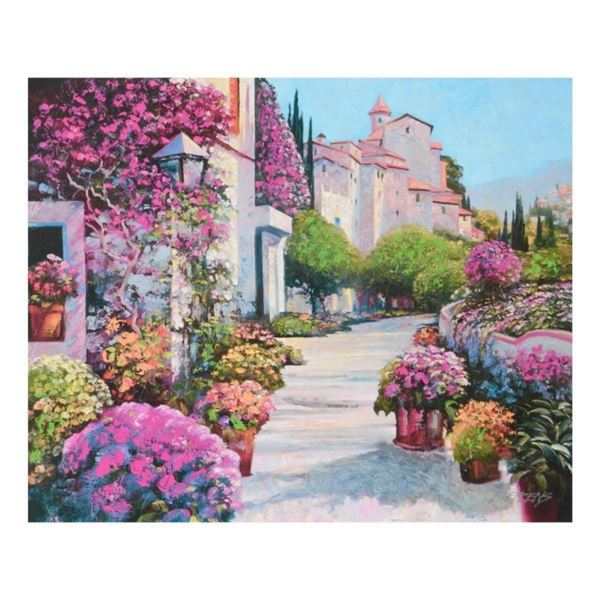 "Howard Behrens (1933-2014), ""Blissful Burgundy"" Limited Edition on Canvas, Numbe"