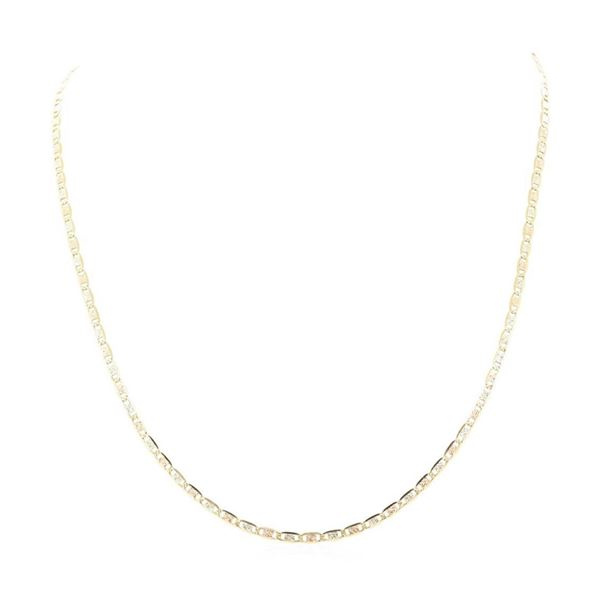 24 Inch Valentino Chain - 14KT Yellow, Rose, and White Gold