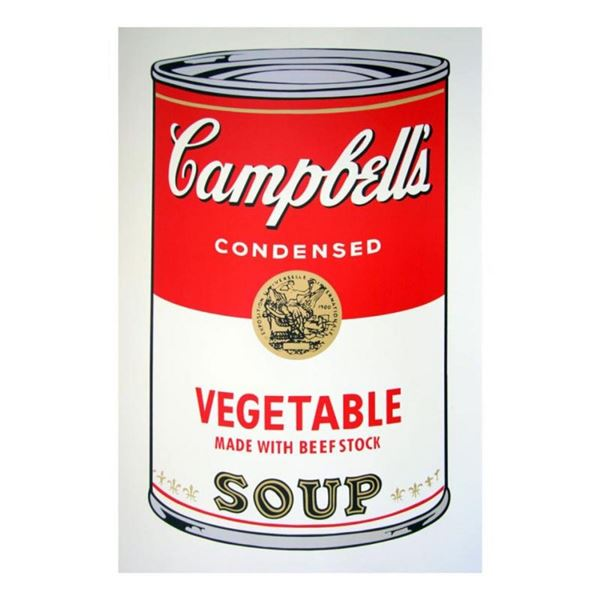 """Andy Warhol """"Soup can 11.48 (Vegetable w/ Beef Stock)"""" Silk Screen Print from Su"""