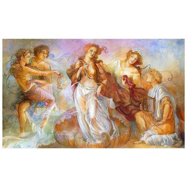 """Lena Sotskova, """"Birth of Venus"""" Hand Signed, Artist Embellished Limited Edition"""