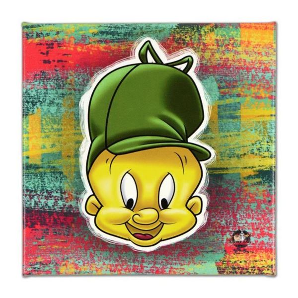 """Looney Tunes, """"Elmer Fudd"""" Numbered Limited Edition on Canvas with COA. This pie"""
