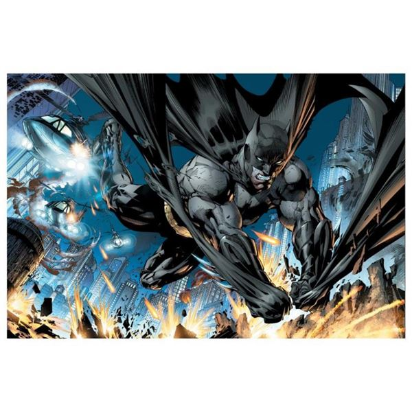 "DC Comics, ""Justice League (New 52) #1"" Numbered Limited Edition Giclee on Canva"
