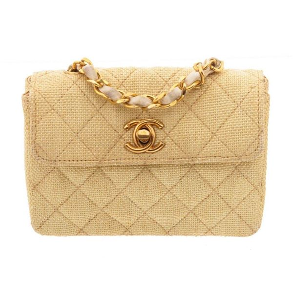 Chanel Gold Mini Flap Shoulder Bags