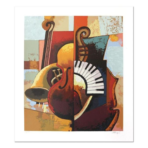 """Igor Kovalev, """"Symphony III"""" Hand Signed Limited Edition Serigraph with Letter o"""