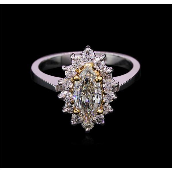 1.49 ctw Diamond Ring - 14KT White Gold