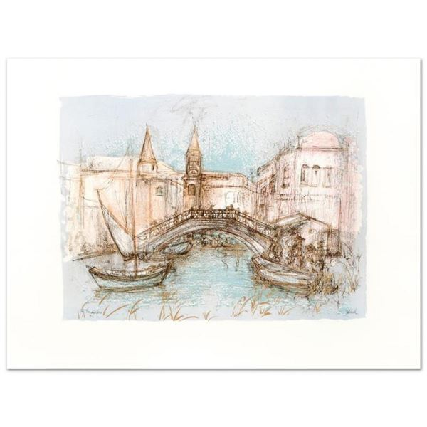 """Chioggia"" Limited Edition Lithograph by Edna Hibel (1917-2014), Numbered and Ha"